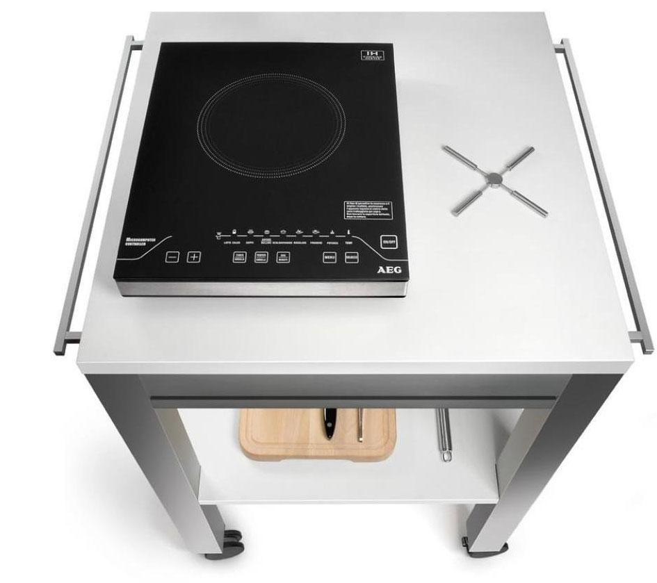 Carrelli cucina cucina aperta mercury - Carrello cucina nero ...